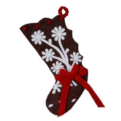 Gingerbread Feast Wool Felt Christmas Stocking