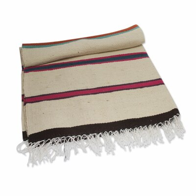 Horizon Handwoven with Stripes Wool Throw Blanket