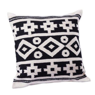 Inca Duality Handwoven Motif Wool Pillow Cover