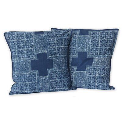 Hmong Cross Handcrafted Hill Tribe Batik Cotton Pillow Cover