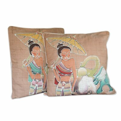 Grace and Power Cotton Pillow Cover