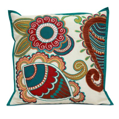 Paisley Garden Handmade Floral Patterned Pillow Cover