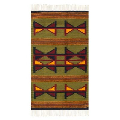 Mcfarlin Green Area Rug