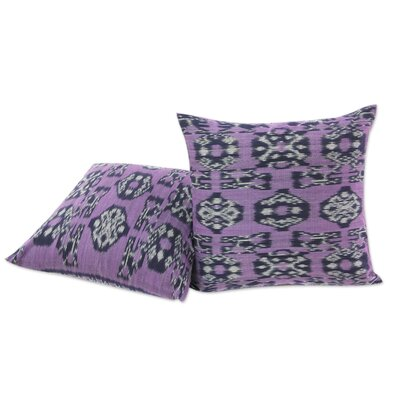 Jepara Ikat Hand Woven Cotton Pillow Cover