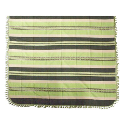 Fields of Oaxaca Hand Woven Striped Cotton Bedspread