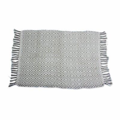 Hand-Woven Gray Area Rug