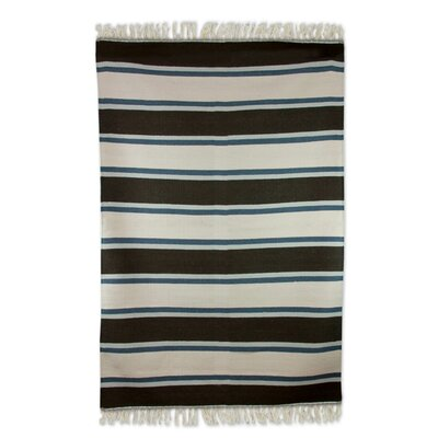 Hand-Loomed Beige/Brown Area Rug