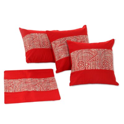 Oriental Hand Crafted Cotton Pillow Cover