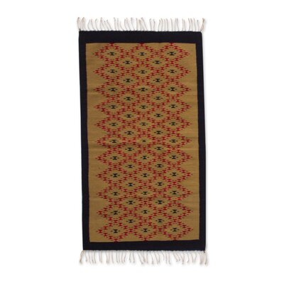 Mcfarlin Hand-Loomed Brown Area Rug