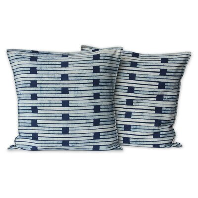 Hill Tribe Stripes Batik Cotton Pillow Cover