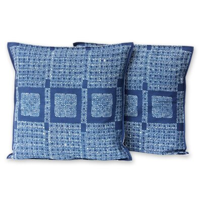 Hmong Basketry Batik Cotton Pillow Cover