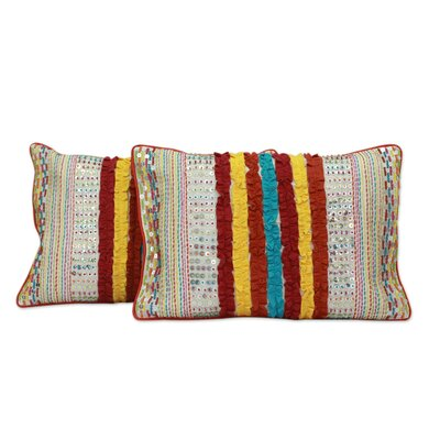 Holi Joy Embroidered Pillow Cover