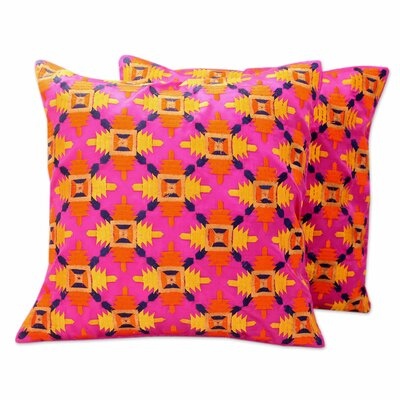 Party Embroidered Square Pillow Cover