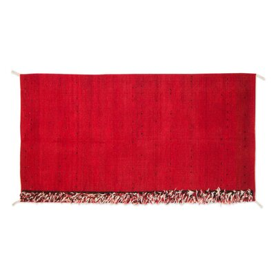 Mcfarlin Hand-Woven Red Area Rug