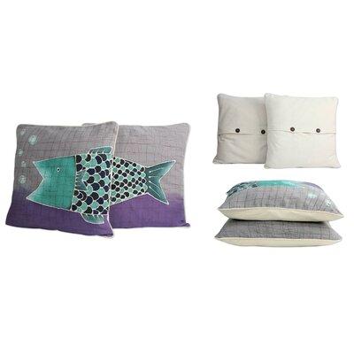 Alaya Cholprasertsuk Handmade Batik Cotton Throw Pillow Cover