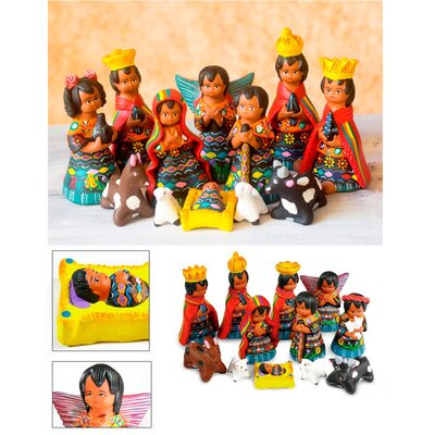 Jose Arriola 12 Piece Unique Nativity Scene Ceramic Sculpture Set