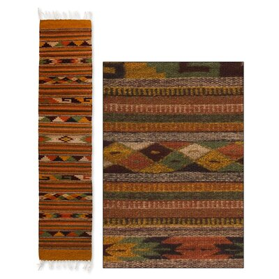 Weare Hand-Loomed Earthtone Area Rug