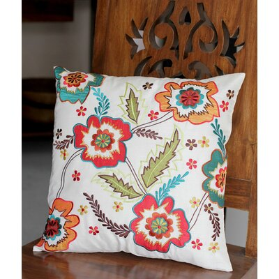 Floral Celebration Handmade Floral Applique Pillow Cover