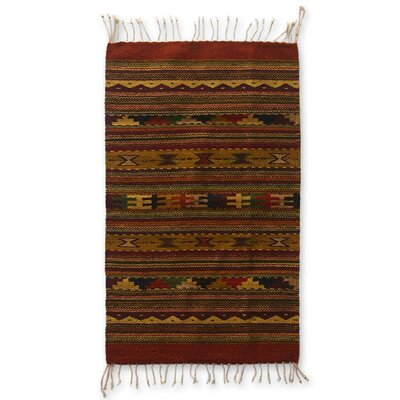 Zapotec Hand-Loomed Earthtone Area Rug