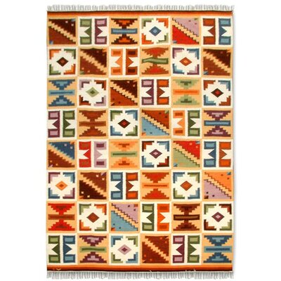 Artisan Crafted Multicolor Naturally Dyed Geometric Kilim South American Naturally Dyed Wool Home Decor Area Rug
