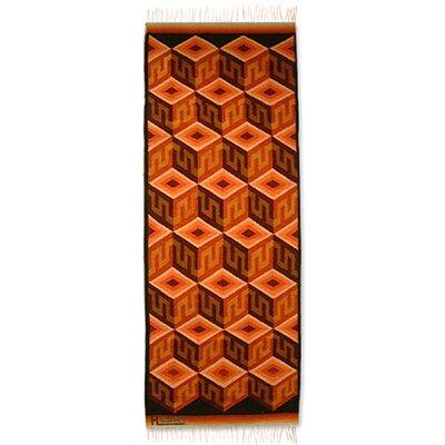 Hand-Loomed Orange Area Rug