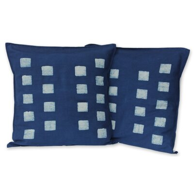Exotic Indigo Cotton Batik Cotton Pillow Cover