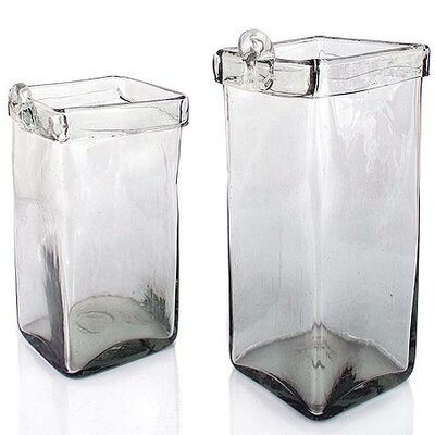 2 Piece Ice Cubes Square Planter Box Set 127276