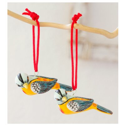 Hand-crafted Ceramic Bird Ornament