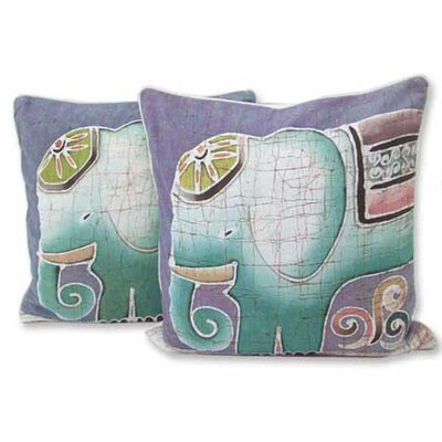 Dreamy Elephants Hand Crafted Batik Cotton Pillow Cover