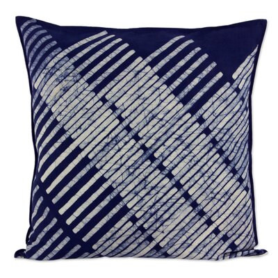 Diagonal Bamboo Hill Tribe Batik Cotton Pillow Cover