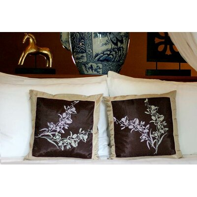 Wild Orchids Handmade Pillow Cover