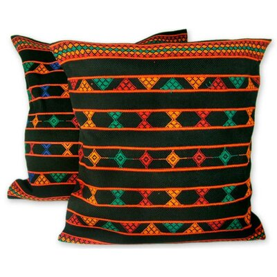 Summer Jazz Artisan Crafted Cotton Pillow Cover