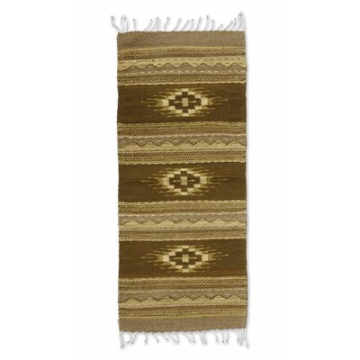 Mcfarlin Hand-Woven Brown Area Rug
