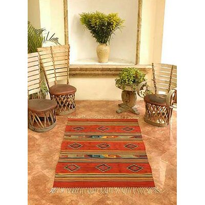 Mcfarlin Hand-Woven Red/Orange Area Rug