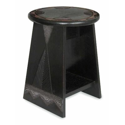 African Beauty Wood End Table
