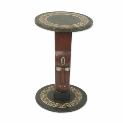 African Prince Wood End Table