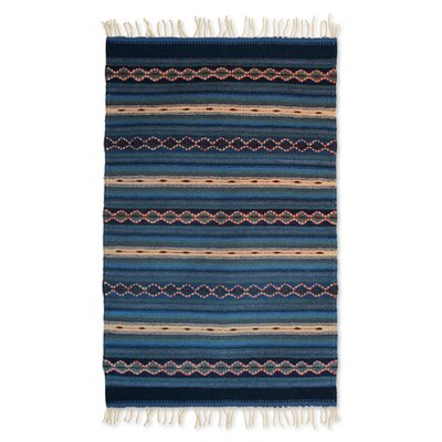 Weare Nature Inspired Magical Copalitilla Waterfall Expertly Hand Woven Mexican Wool Home Decor Area Rug
