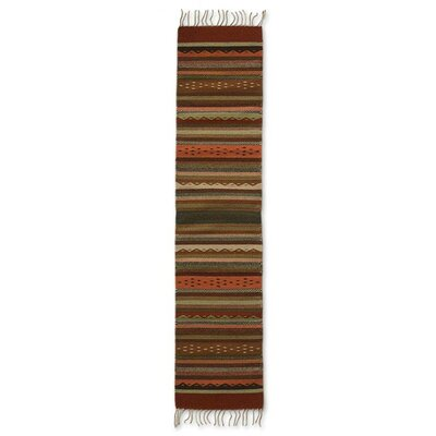 Weare Hand-Woven Beige/Orange Area Rug