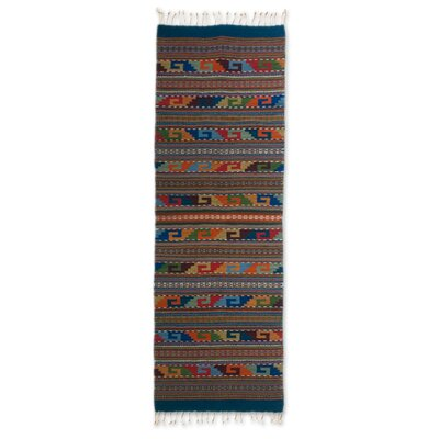 Weare Decorative Geometric Rectangular Expertly Hand Woven Mexican Wool Home Decor Area Rug