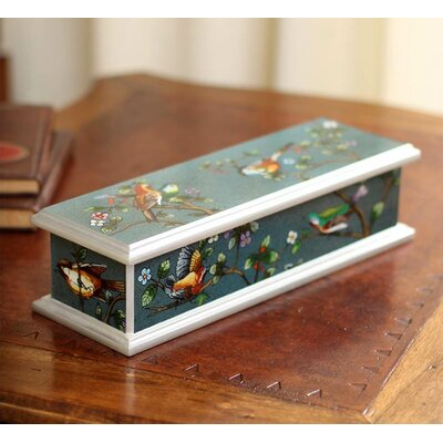 Spring Romance Painted Glass Box 187600