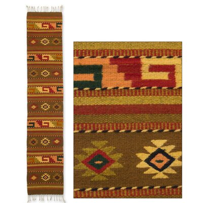 Weare Hand-Woven Beige/Red Area Rug