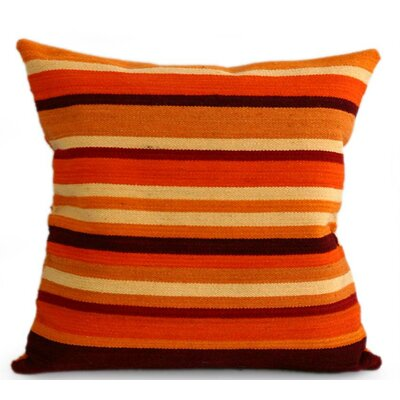Kingdom of the Sun Handmade Geometric Striped Wool Pillow Cover