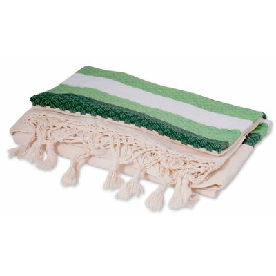 Zapotec Emerald Fields Cotton Bedspread