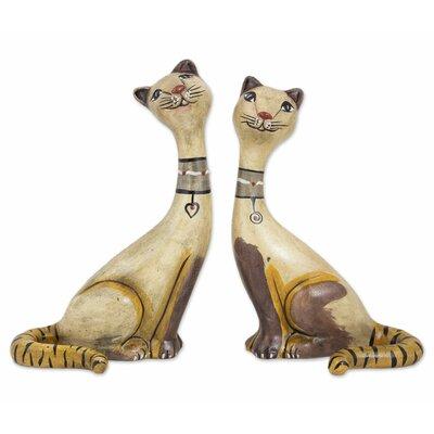 2 Piece Siamese Kittens Ceramic Figurine Set 260661