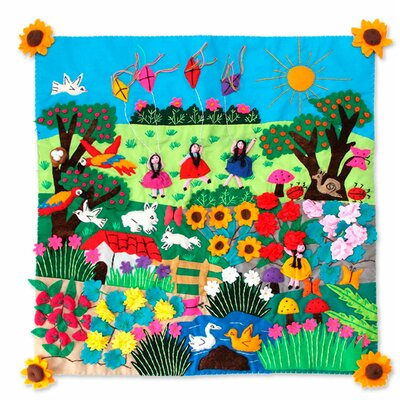 Spring Fun Applique Pillow Cover