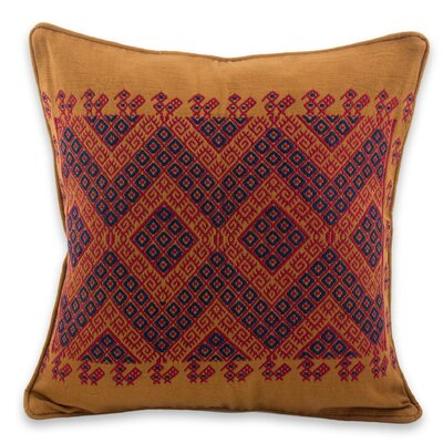 Traditional Symmetry Cotton Pillow Cover