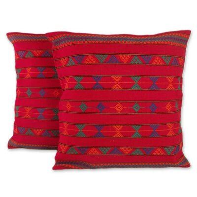 Desert Ruby Cotton Pillow Cover