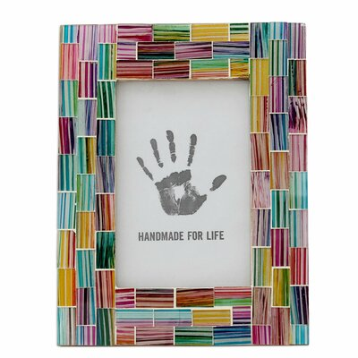 Indian Rainbow Mosaic Picture Frame 258796