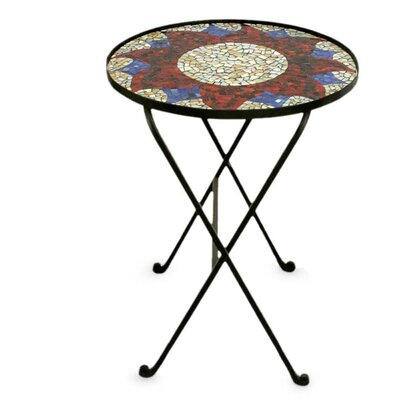 Evening Sunflower Stained Glass End Table
