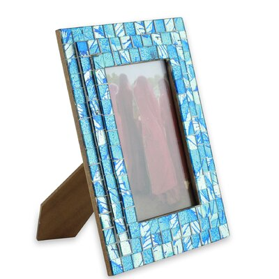 Beach Mosaic Glass Picture Frame 211012
